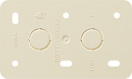GIRA 008213 Montageplatte 2fach Steckdosen AP