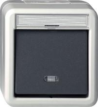 GIRA 015631 Wipptaster Wechsler WD AP grau