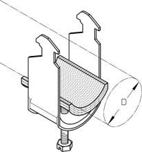 DIETZEL K 16 H-IW Kabelschelle DM=13-16mm, Hoehe=47,5mm