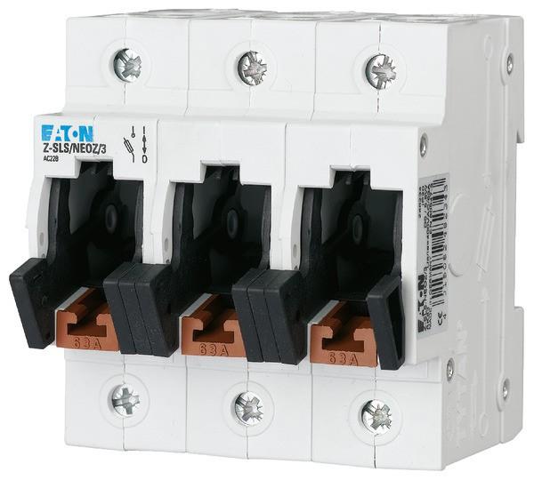 EATON Neozed-Lasttrennschalter D02/D01 63A 3P 4,5TE