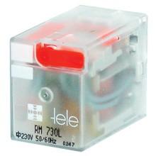 TELE-HAASE RM 730L-N Miniaturreleais 230VAC, 4 Wechsler, LED