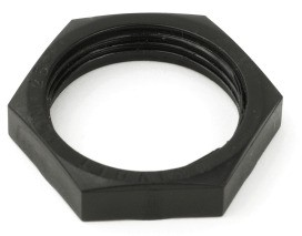DIETZEL HLN 25 SW HFT - Gegenmutter für HFT - Verschraubung, schwarz